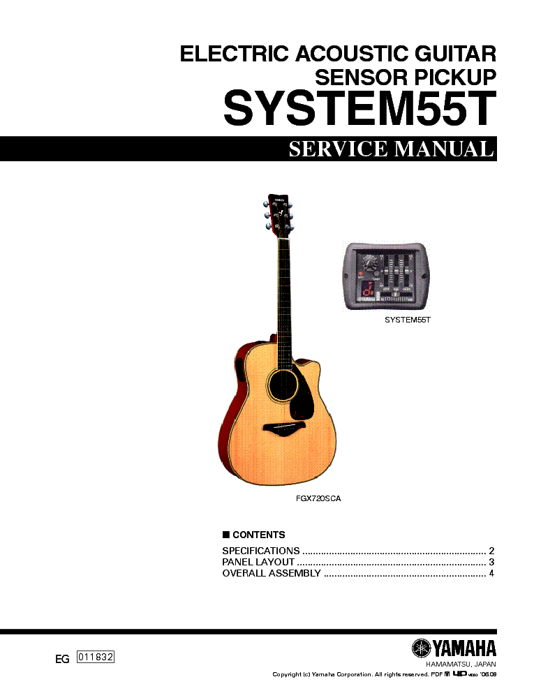 YAMAHA SYSTEM55T service manual (1st page)