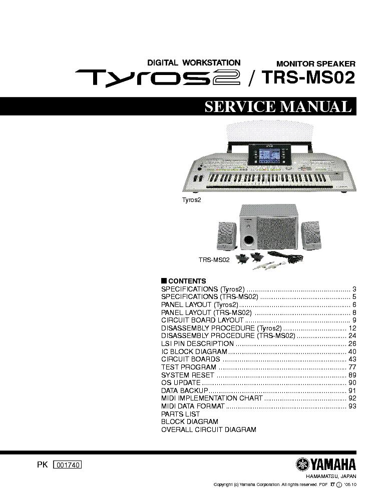 Yamaha Tyros  Manual