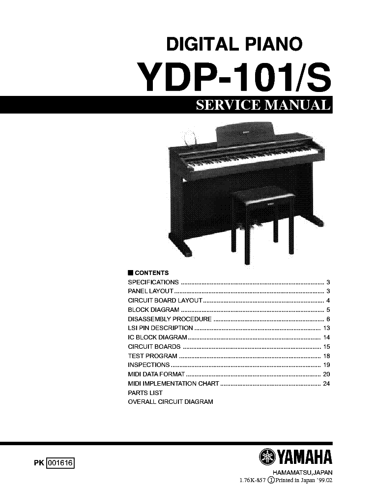 yamaha ydp 101s digital piano sm service manual download schematics rh elektrotanya com yamaha piano user manual yamaha piano user manual