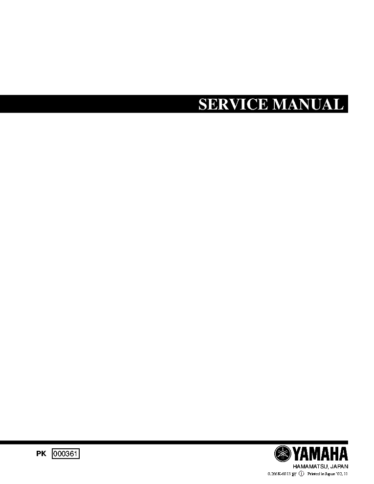 YAMAHA YDP-123 000361 DIGITAL PIANO SM service manual (1st page)