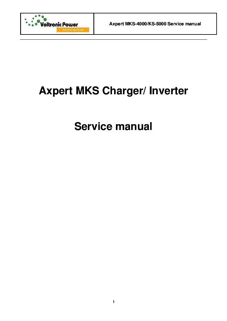 voltronicpower axpert mks 4000 ks 5000 charger inverter sm service rh elektrotanya com roland mks-70 service manual mks-30 service manual