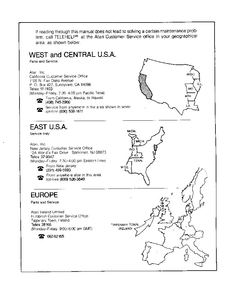ATARI QUANTUM TM-221 Service Manual download, schematics, eeprom