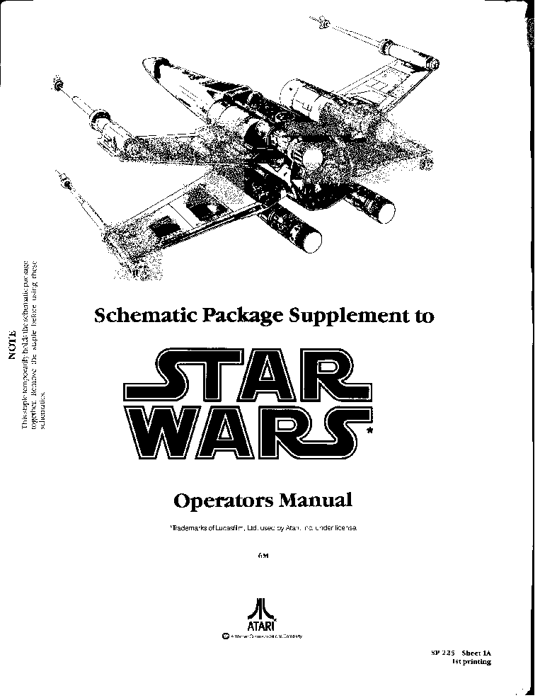 ATARI STAR-WARS SP-225 Service Manual download, schematics, eeprom on batman schematics, tron schematics, wall-e schematics, terminator schematics, kamen rider schematics, robotech schematics, prometheus schematics, a wing fighter schematics, pneumatic schematics, macross schematics, stargate schematics, star destroyer, pacific rim schematics,