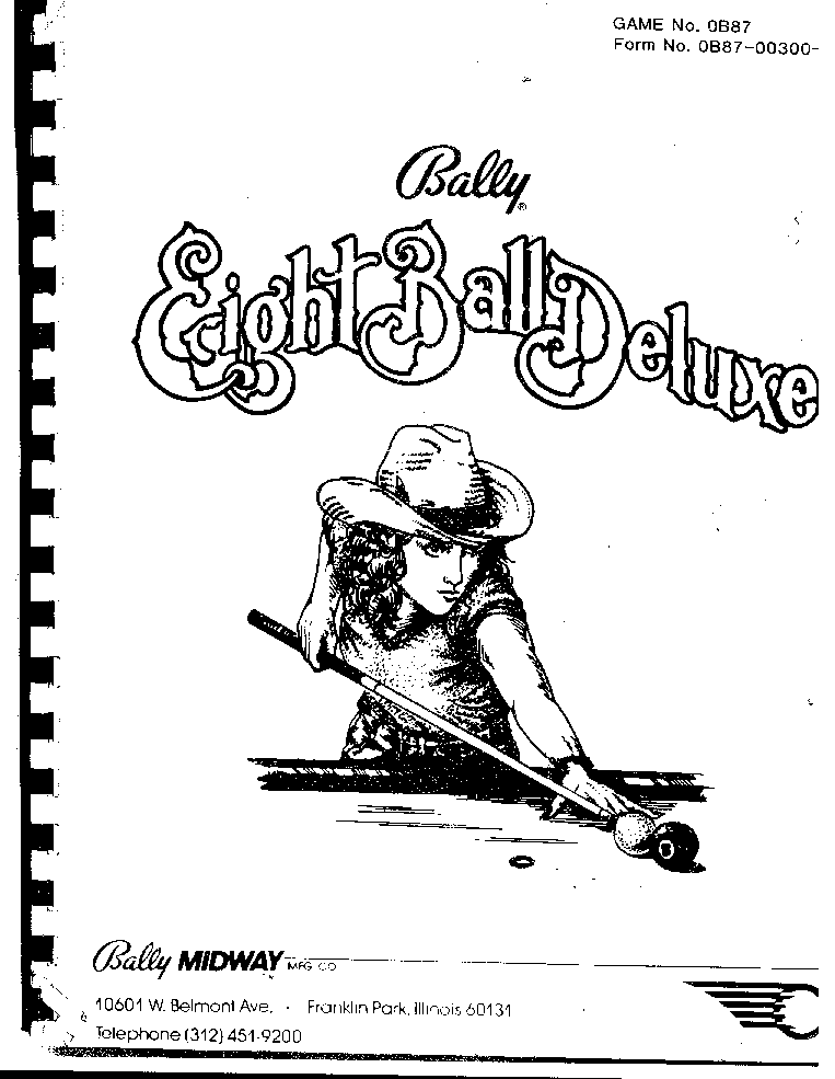 Bally Pinball Division Service Manual Download Schematics