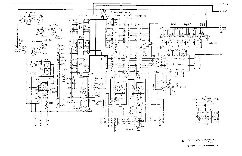NINTENDO PLAYCHOICE-10 SCH Service Manual download, schematics ...