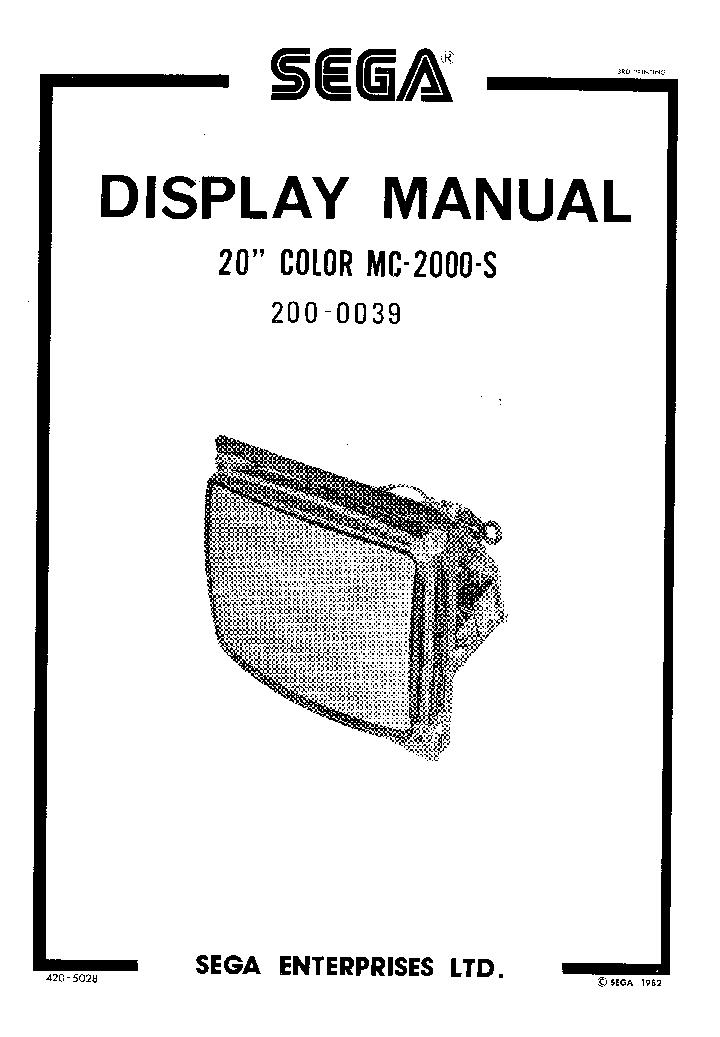 sega megadrive 439 sch service manual download  schematics