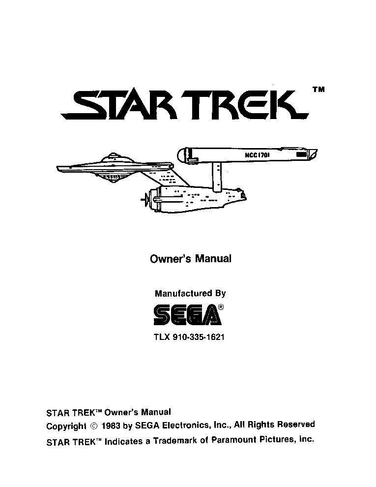 sega star trek service manual download schematics eeprom repair rh elektrotanya com trek parts manual Parts Manual