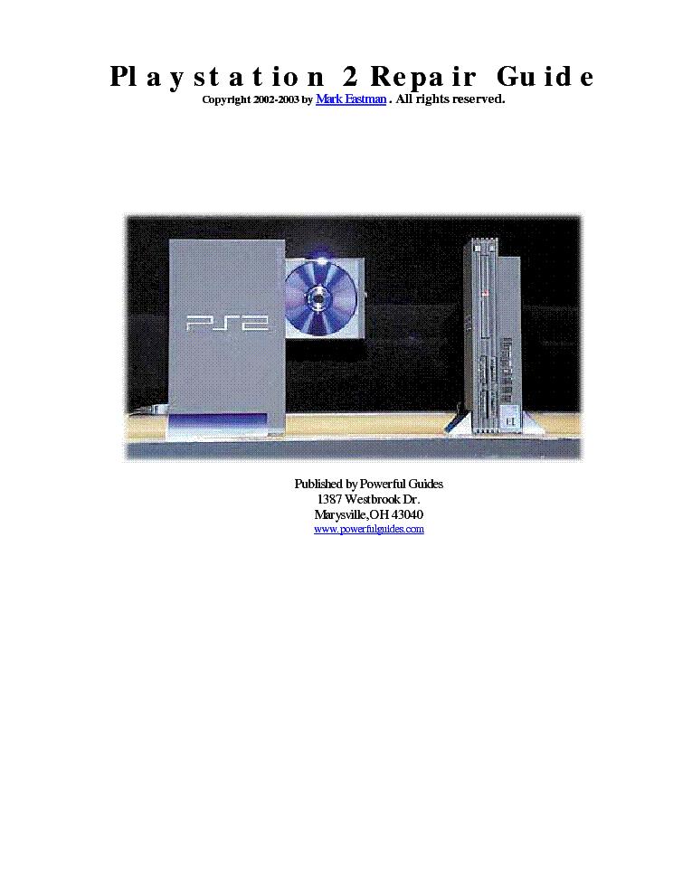 sony playstation ps2 repair guide service manual download rh elektrotanya com Sony PlayStation 3 Sony PlayStation 3 Slim