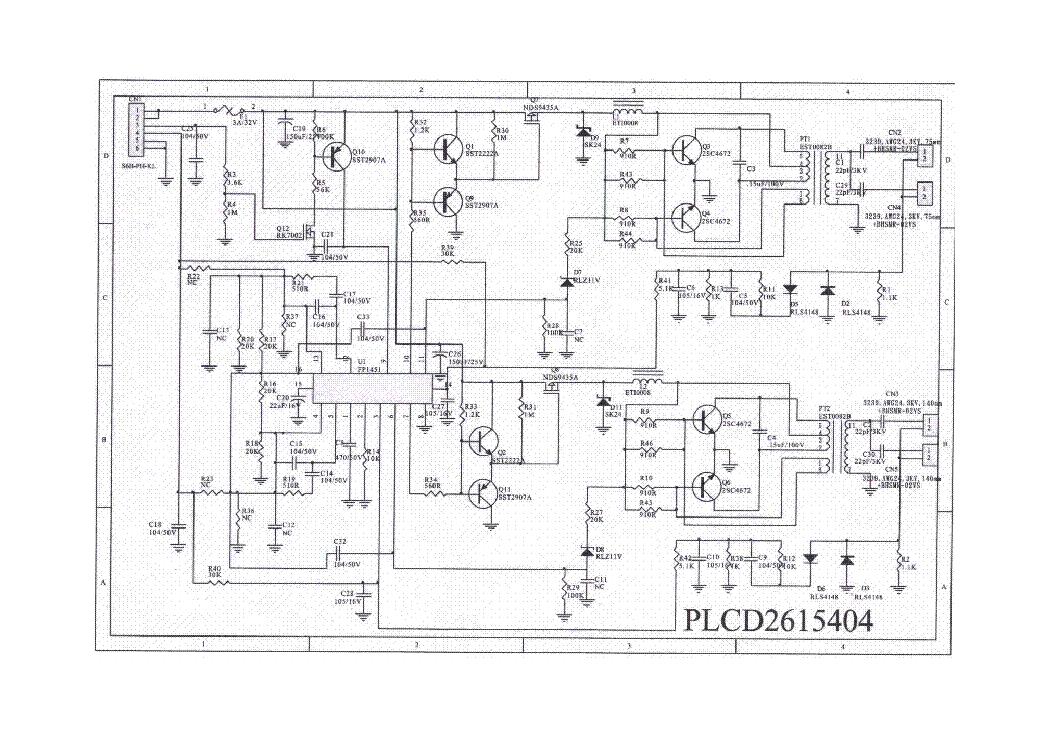 Acer Al532 Plcd2615404 Inverter Sch Service Manual Download  Schematics  Eeprom  Repair Info For