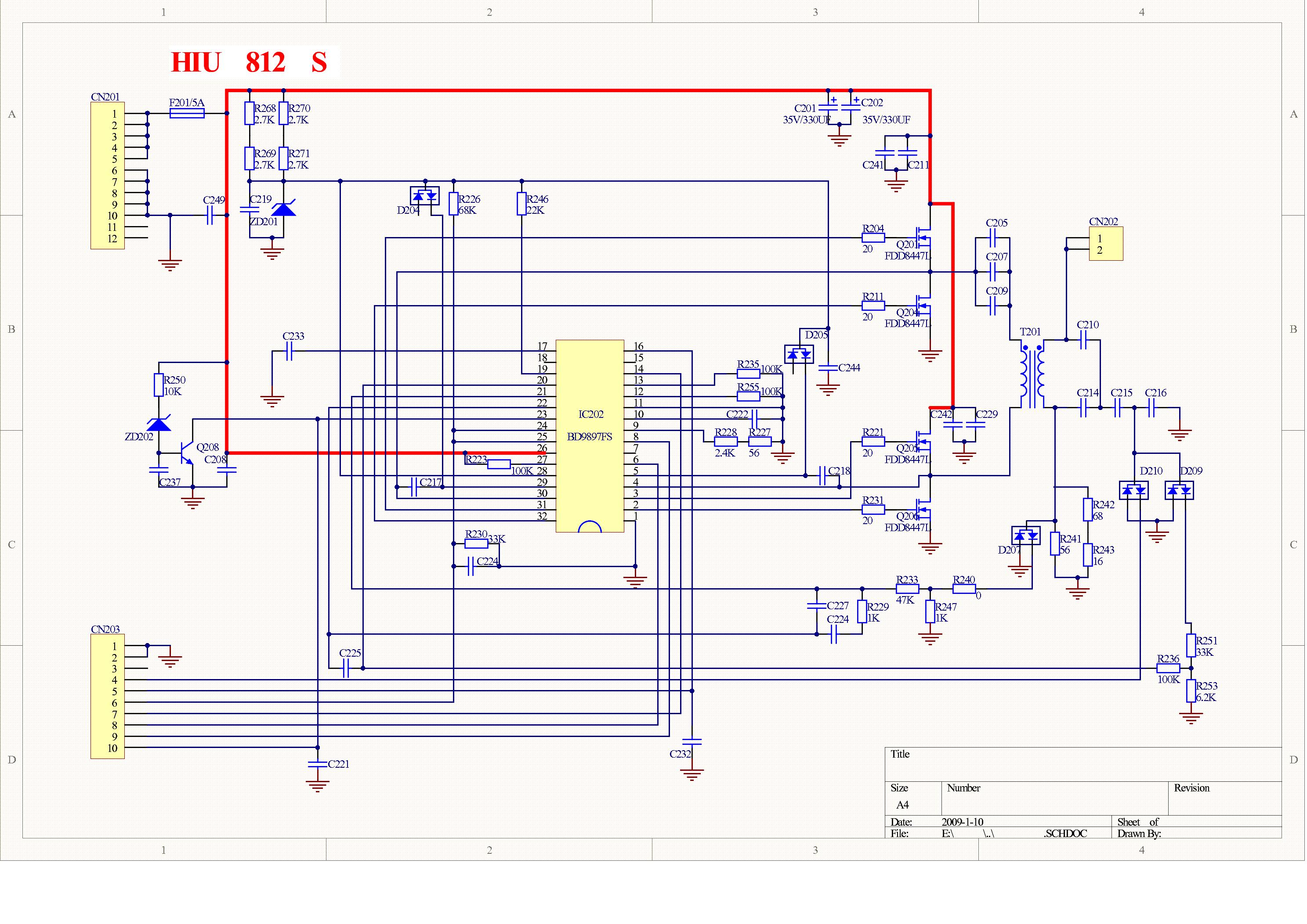 Hiu812 Lcd Tv Inverter Based On Bd9897fs 2 Sch Service