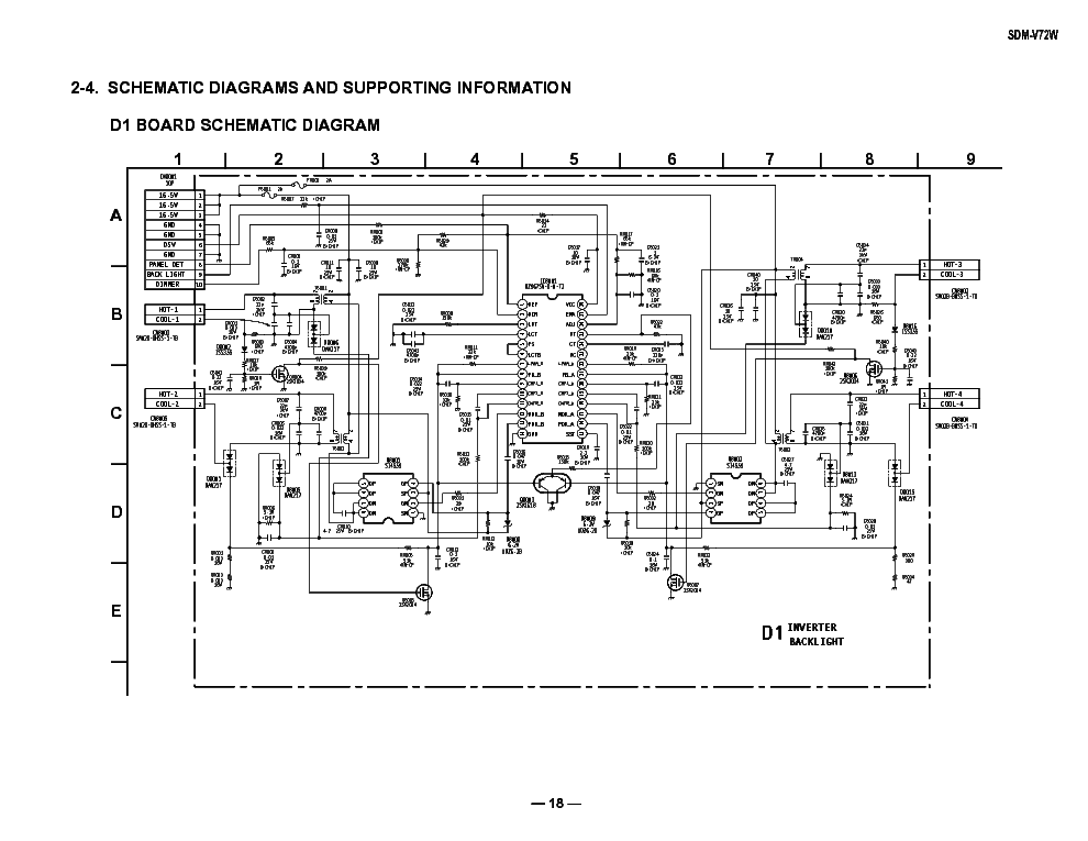 Wiring Diagram Inverter Toshiba : Lcd inverter schematic wiring diagrams image free