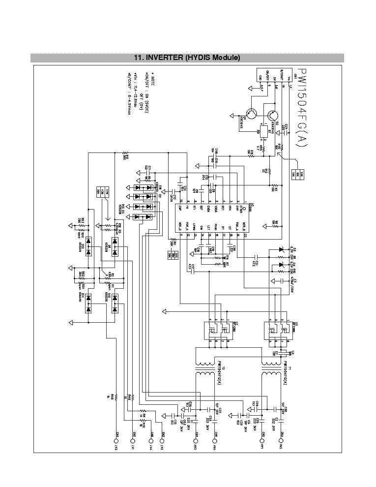 Oz960gn Pwi1504fga L1715s Lb700k Inverter Ccfl Inverter
