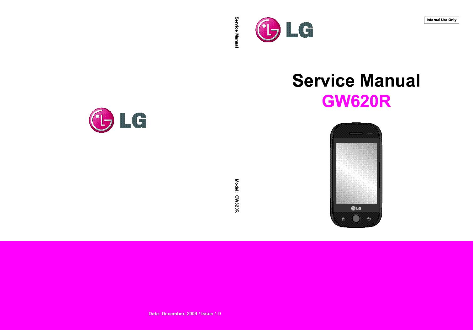 LG GW620R GW620F SM service manual (1st page)