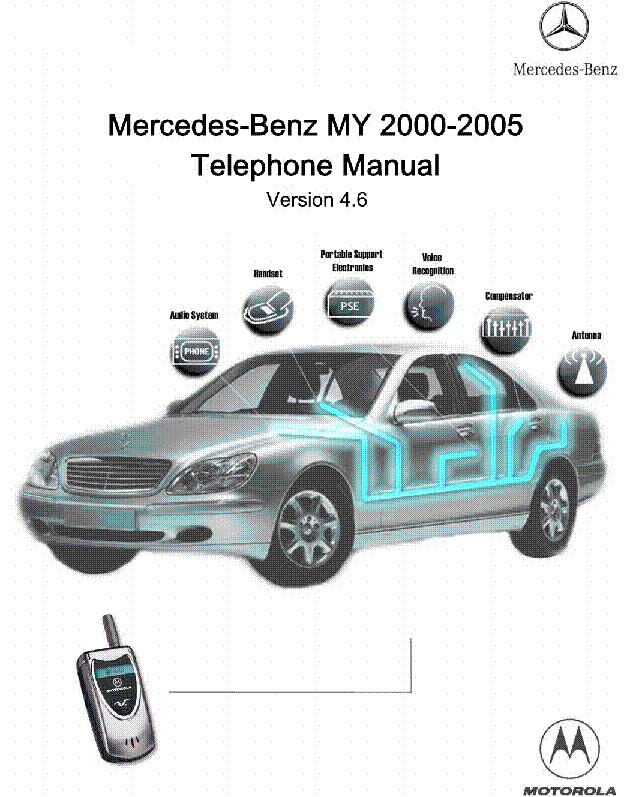 Motorola mb phone manual v4 6 mercedes benz service manual for How to connect phone to mercedes benz