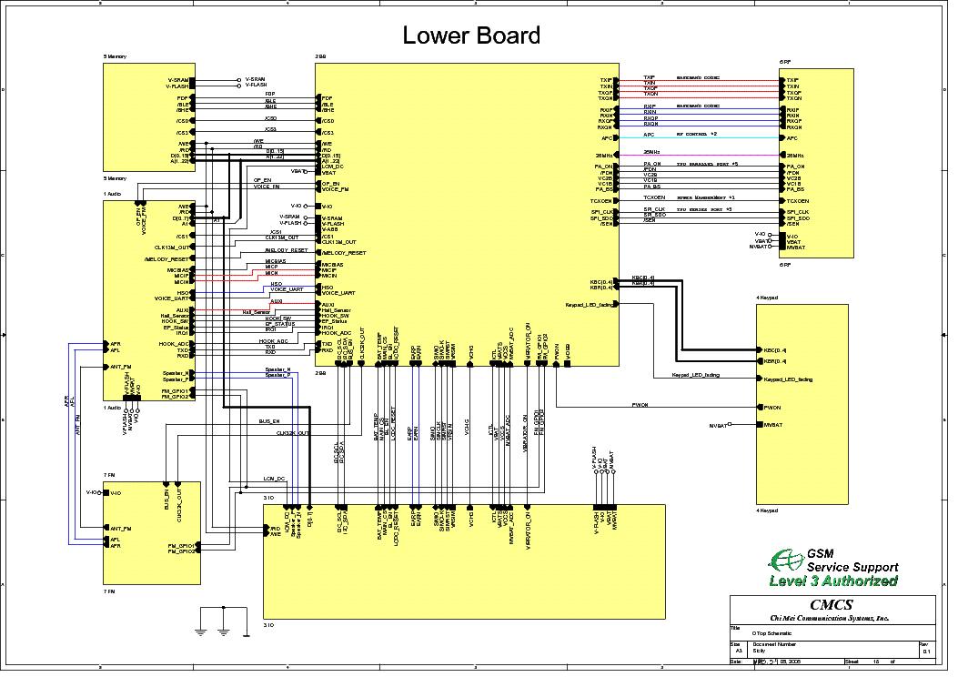 MOTOROLA W220 SCH Service Manual download, schematics