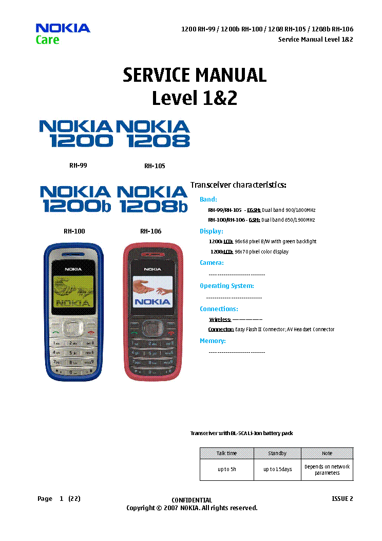 Nokia 1200 Service Schematics Great Engine Wiring Diagram Schematic