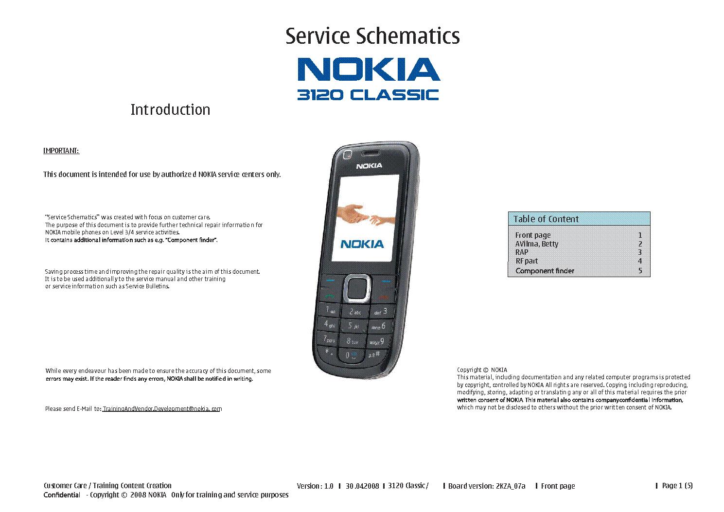 nokia 3120 classic rm 364 v2 0 service manual download schematics rh elektrotanya com Nokia Lumia 520 Manual Nokia Lumia 521 Manual