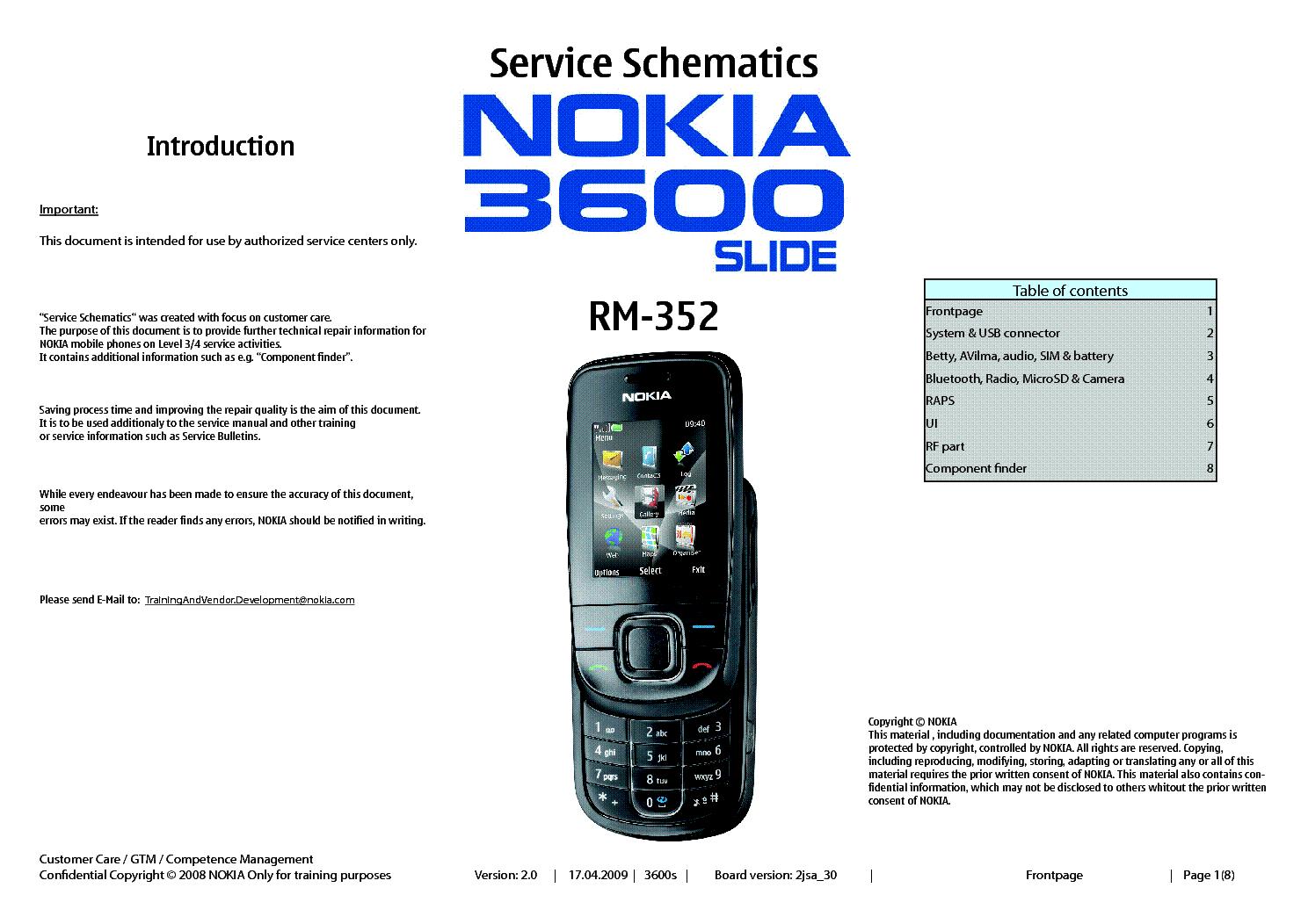 nokia 3600s rm352 sm service manual download schematics eeprom rh elektrotanya com