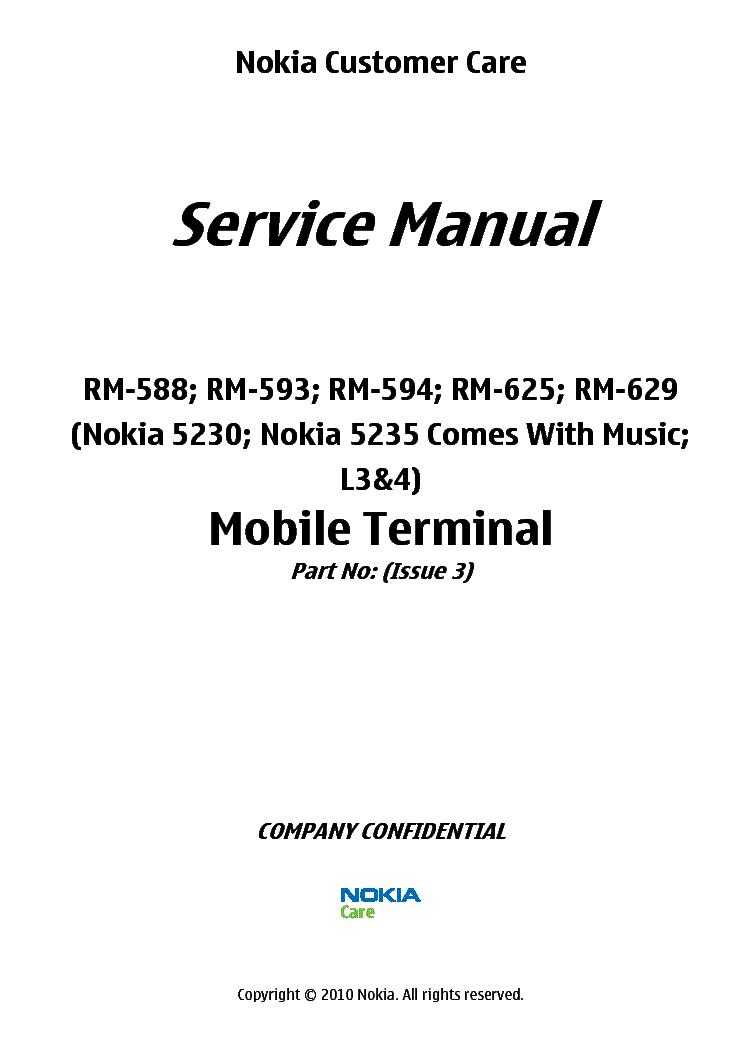 NOKIA 5230 5235 L3 L4 service