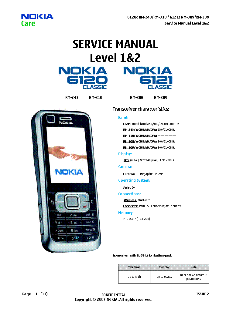 Nokia 6120c RM-243 Flash File Firmware Stock Rom Download