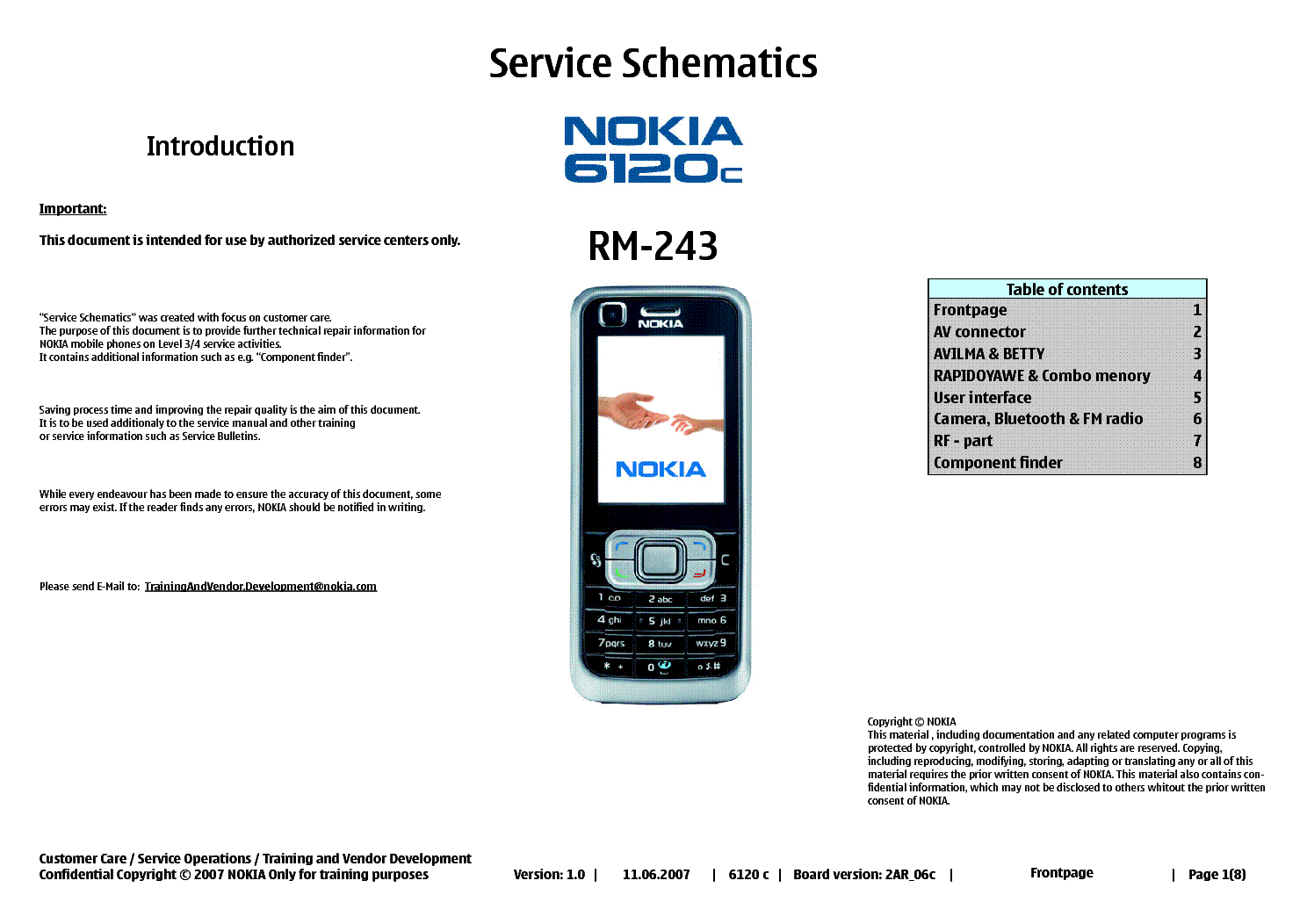 Nokia 6680 Service Manual Level 1 Download 1681c 6120c Rm 243 Schematics V 0 Rh Elektrotanya Com