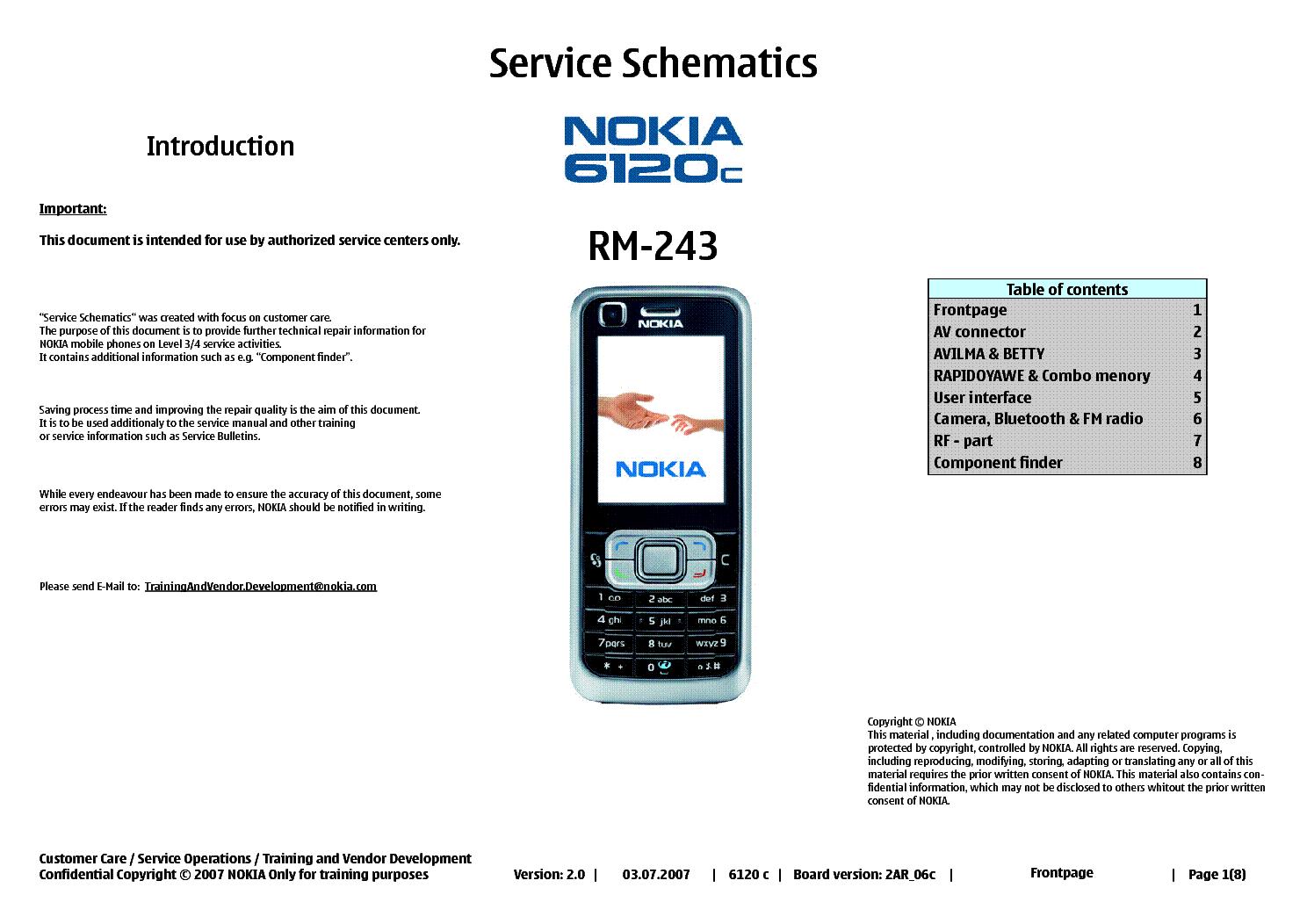 nokia 6120c rm 243 service schematics v 2 0 service manual download rh elektrotanya com Nokia AT&T Manual iPod Manual