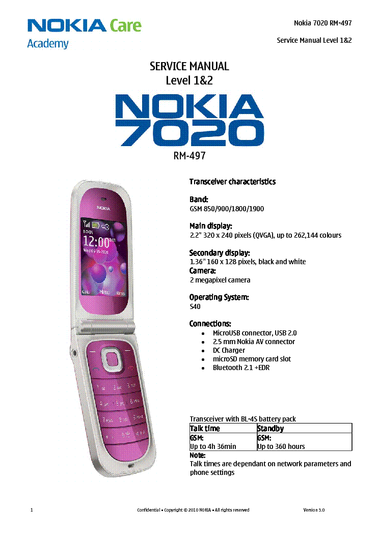 nokia 7020 rm 497 l1 2 service manual download schematics eeprom rh elektrotanya com