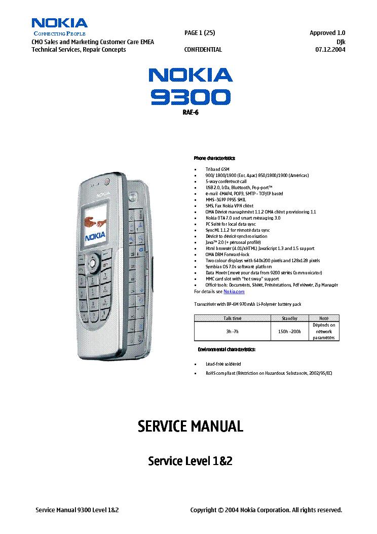 nokia 9300 rae6 1 2 service manual download schematics eeprom rh elektrotanya com Nokia 9310 Nokia 8600