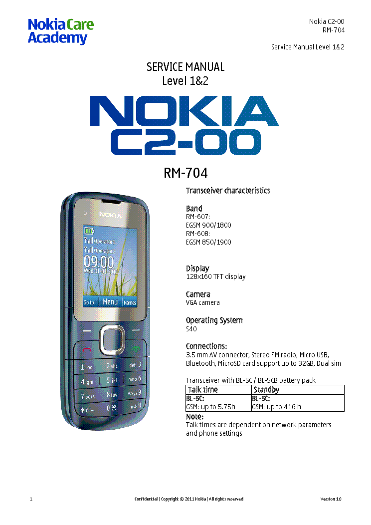 nokia c2 00 rm 704 service manual l1l2 v1 0 service manual download rh elektrotanya com Nokia C2-00 YouTube Nokia X2-00
