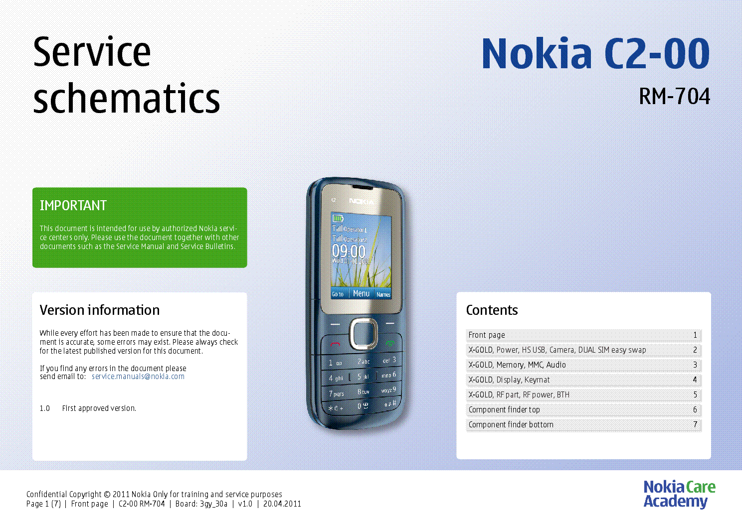 nokia c2 00 rm 704 service schematics v1 0 service manual download rh elektrotanya com Nokia C2-00 YouTube Nokia C5-00