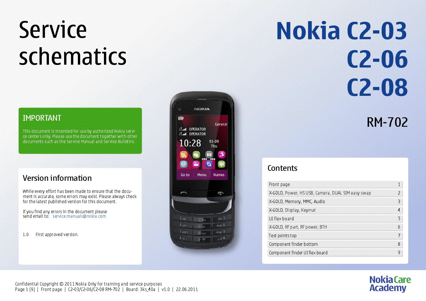 nokia c2 03 c2 06 c2 08 rm 702 service schematics v1 0 service rh elektrotanya com Nokia 3310 Nokia 3310