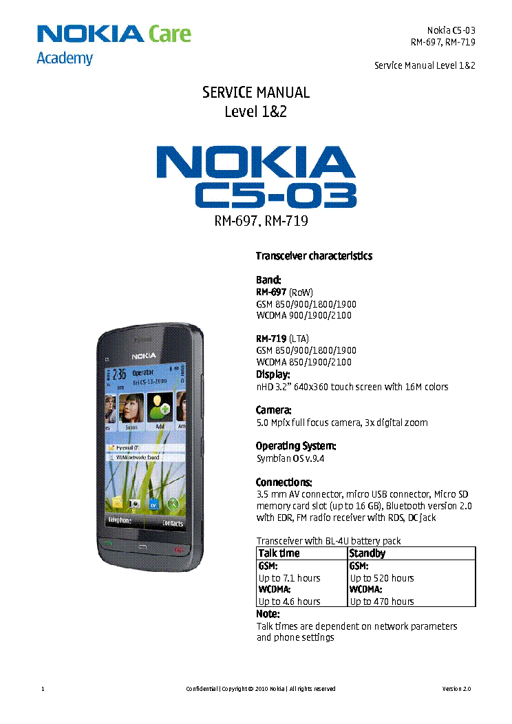 nokia c rm rm   service manual free download, schematic