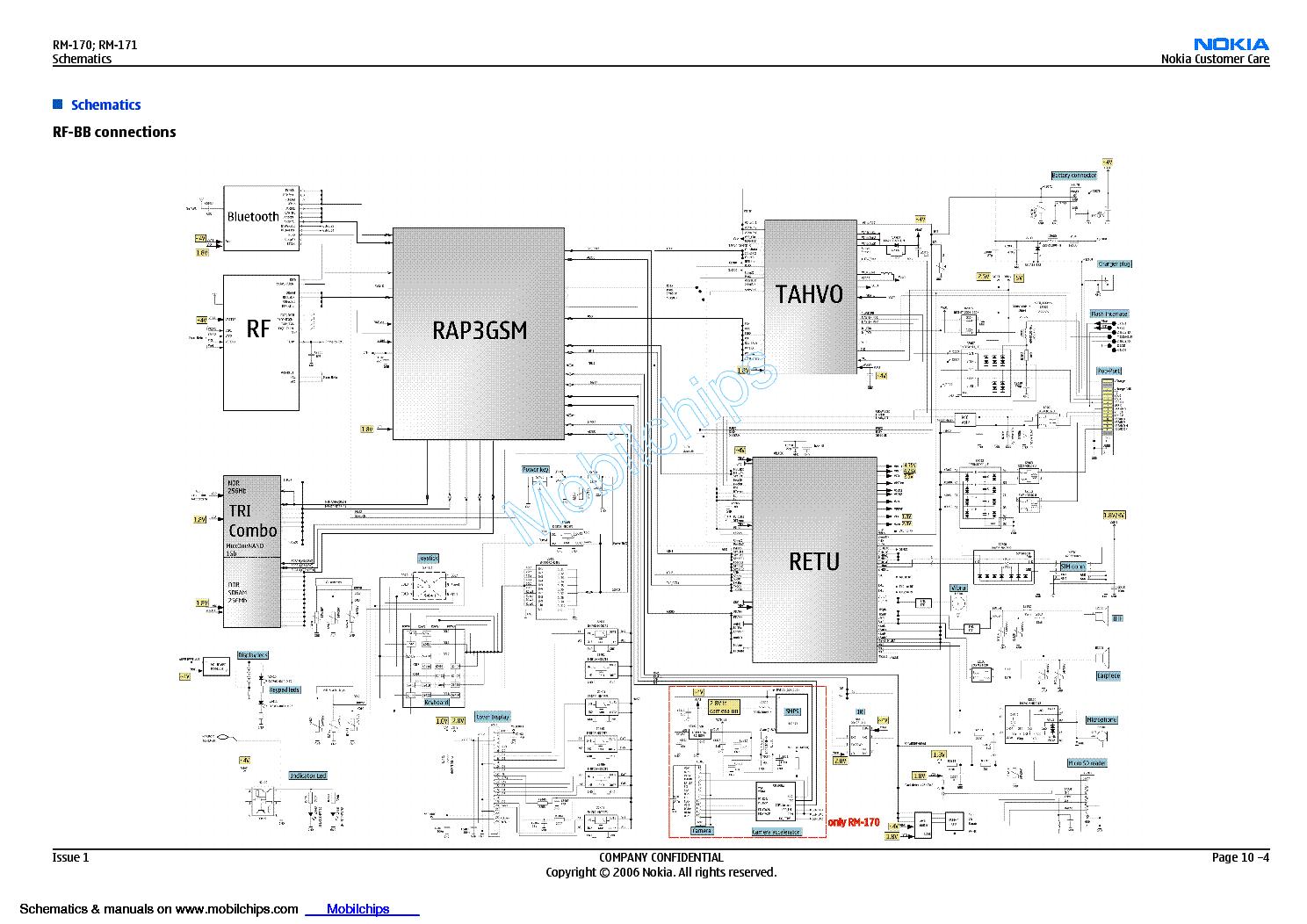 Принципиальная электрическая схема мобильного телефона
