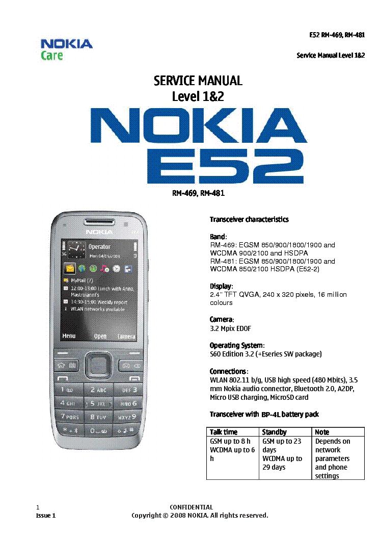 nokia e52 sm service manual download schematics eeprom repair rh elektrotanya com Types of Manuals Service Manual Schematic 41A5021-I