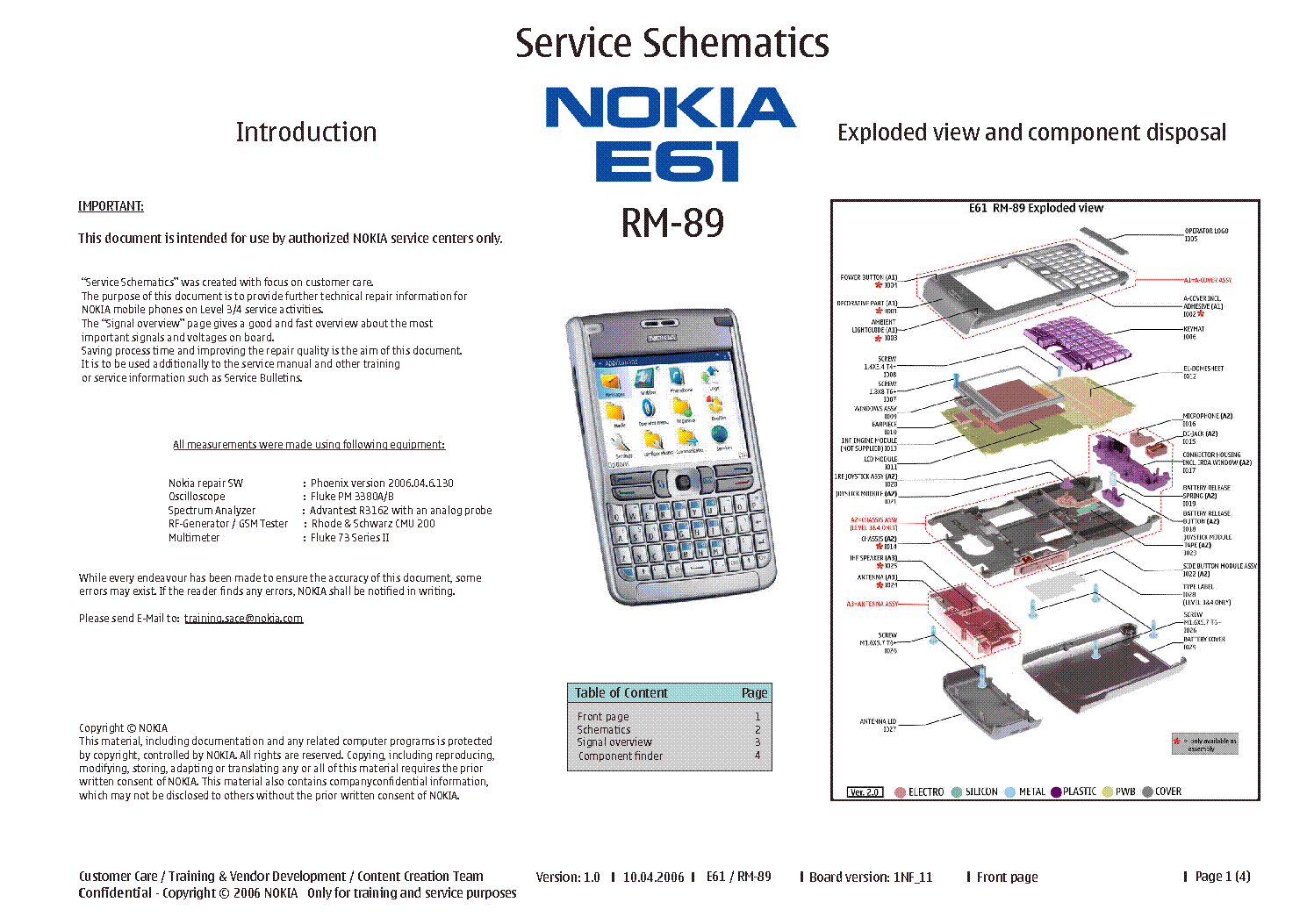 nokia e61 rm 89 service schematics service manual download rh elektrotanya com nokia e61 service manual nokia e61 service manual