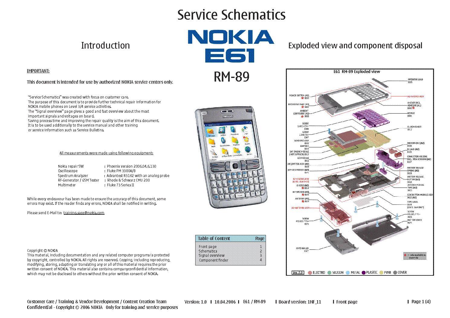 nokia e61i rm 89 schematics v1 0 sch service manual download rh elektrotanya com Nokia User Guide Manual Nokia User Guide Manual