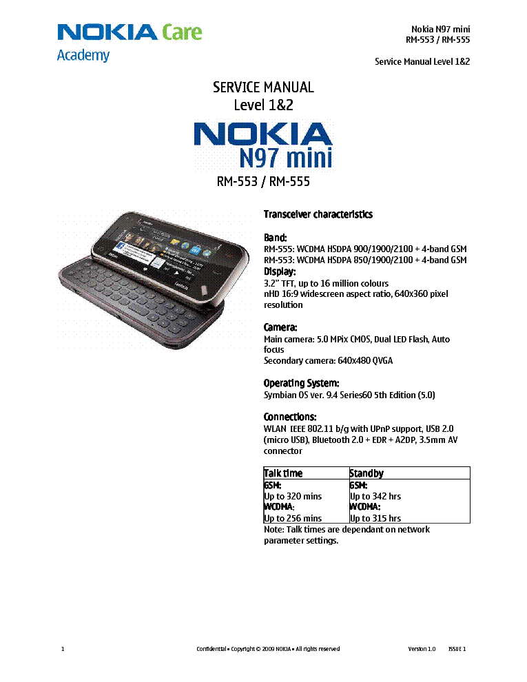 nokia n97 mini rm 553 rm 555 l12 service manual download schematics rh elektrotanya com Nokia N97 Mini Nokia N97 Mini Software