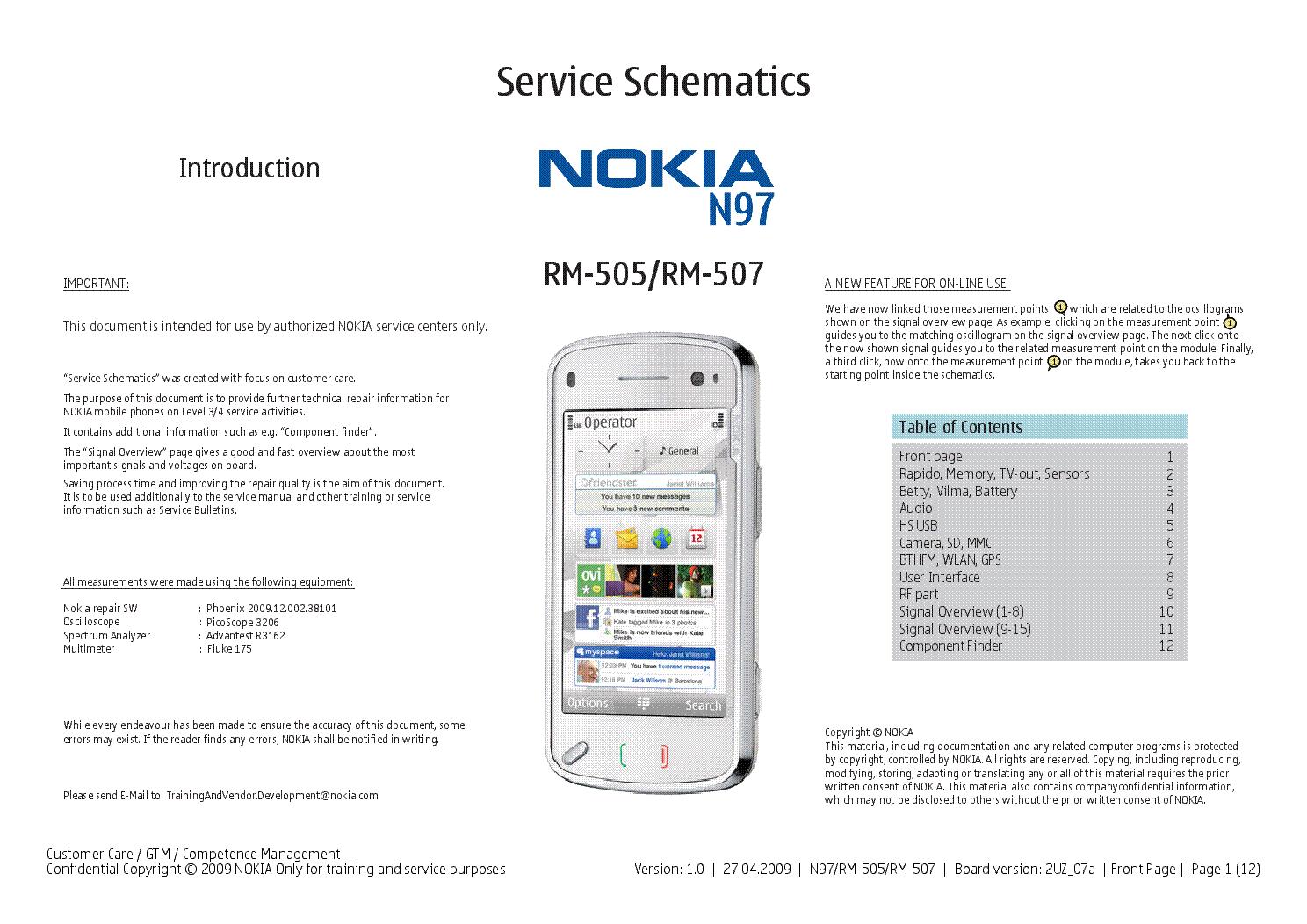 nokia n97 rm 505 507 ver 1 0 sm service manual download schematics rh elektrotanya com N97 Mini- Games Nokia N97 Mini -Review