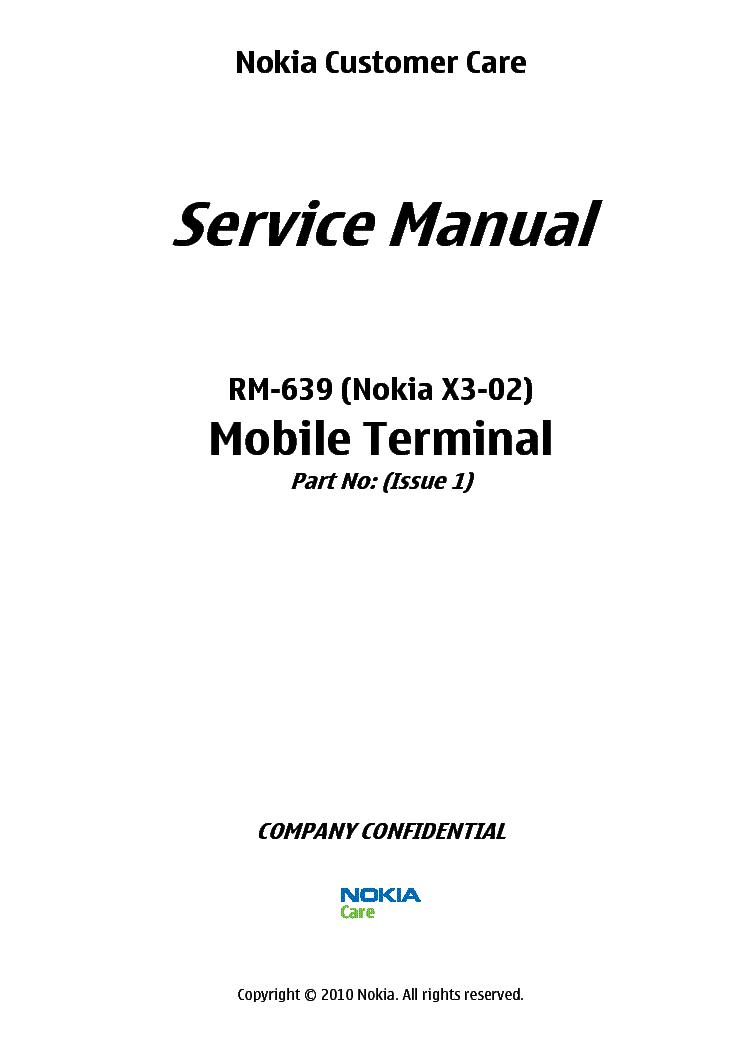 nokia x3 02 rm 639 sm l3 4 v1 0 service manual download schematics rh elektrotanya com Nokia X Nokia Touch Screen Phones