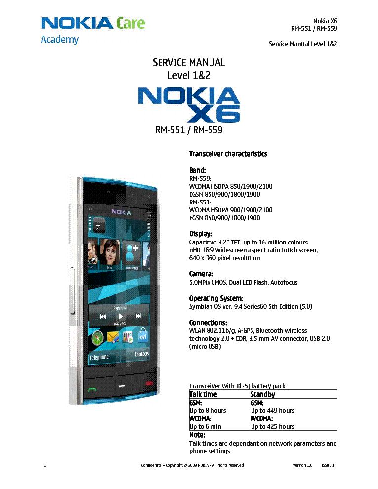 Nokia x6 инструкция скачать