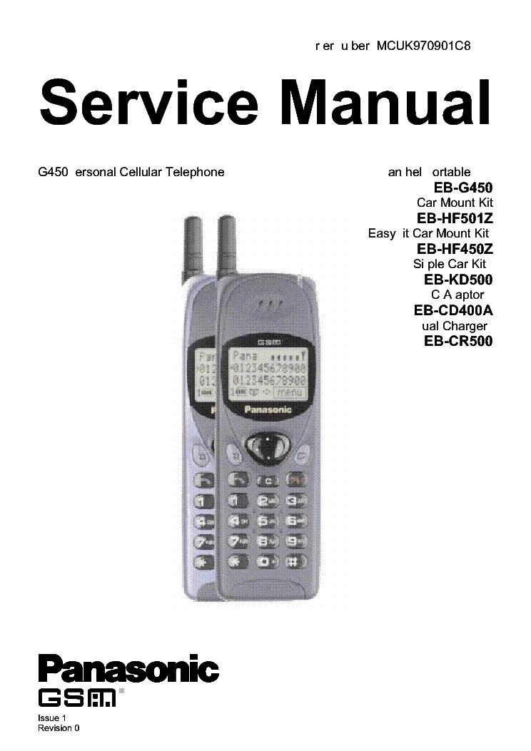 Panasonic kx-tg6411 6412 6413 6414 tga-641 service manual download.