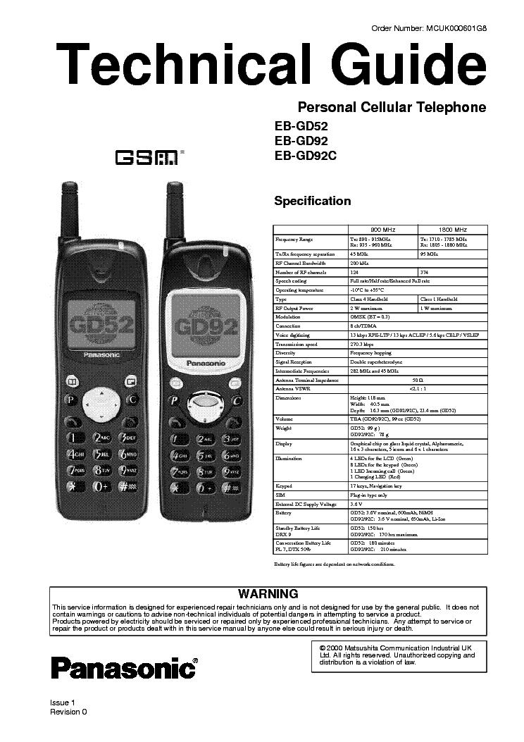 Panasonic Gd92 Technical Guide Service Manual Free