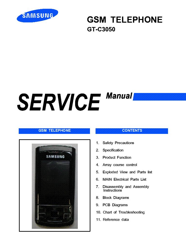 Samsung Gt-c3050 Samsung Gt-c3050 Service