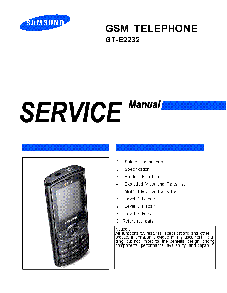 samsung gt e2232 service manual download schematics eeprom repair rh elektrotanya com Samsung Manual PDF samsung gt-e2232 service manual