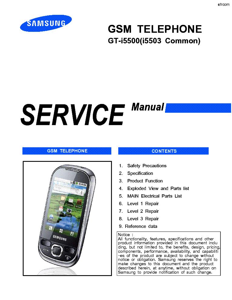 Инструкция samsung gt i5500