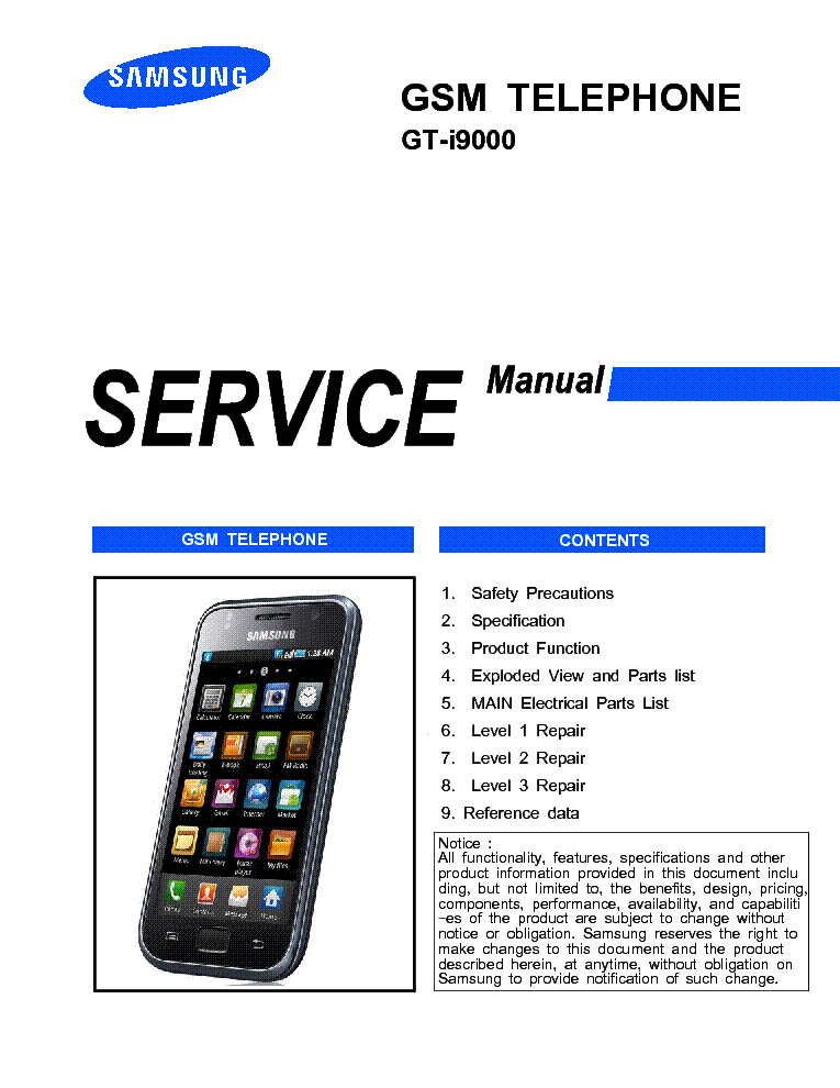 I9000 manual pdf galaxy s samsung