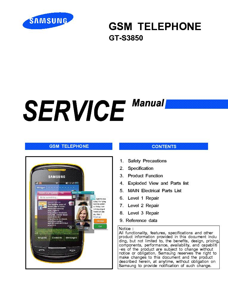 Самсунг gt s3850 инструкция