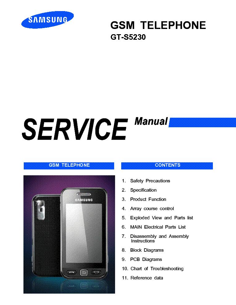 GT-S5230 SM service manual