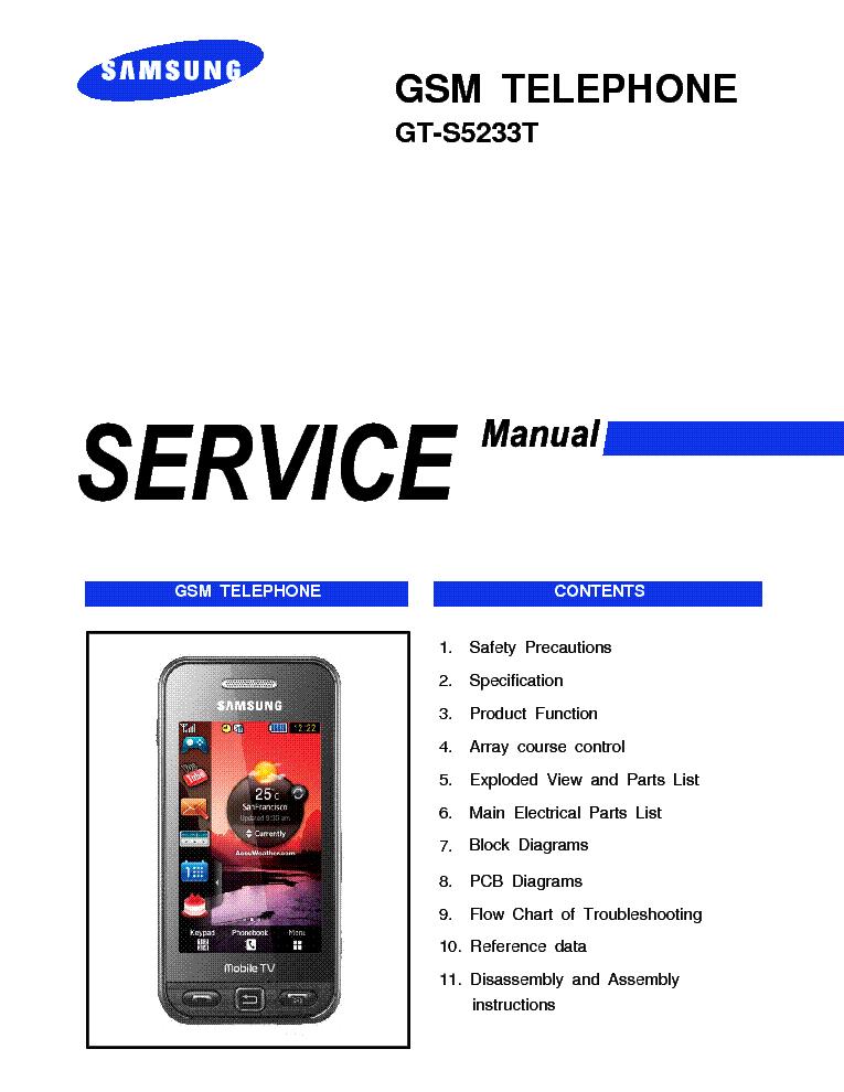 samsung gt s5233t star tv service manual service manual download rh elektrotanya com Samsung Instruction Manual Samsung User Manual Guide