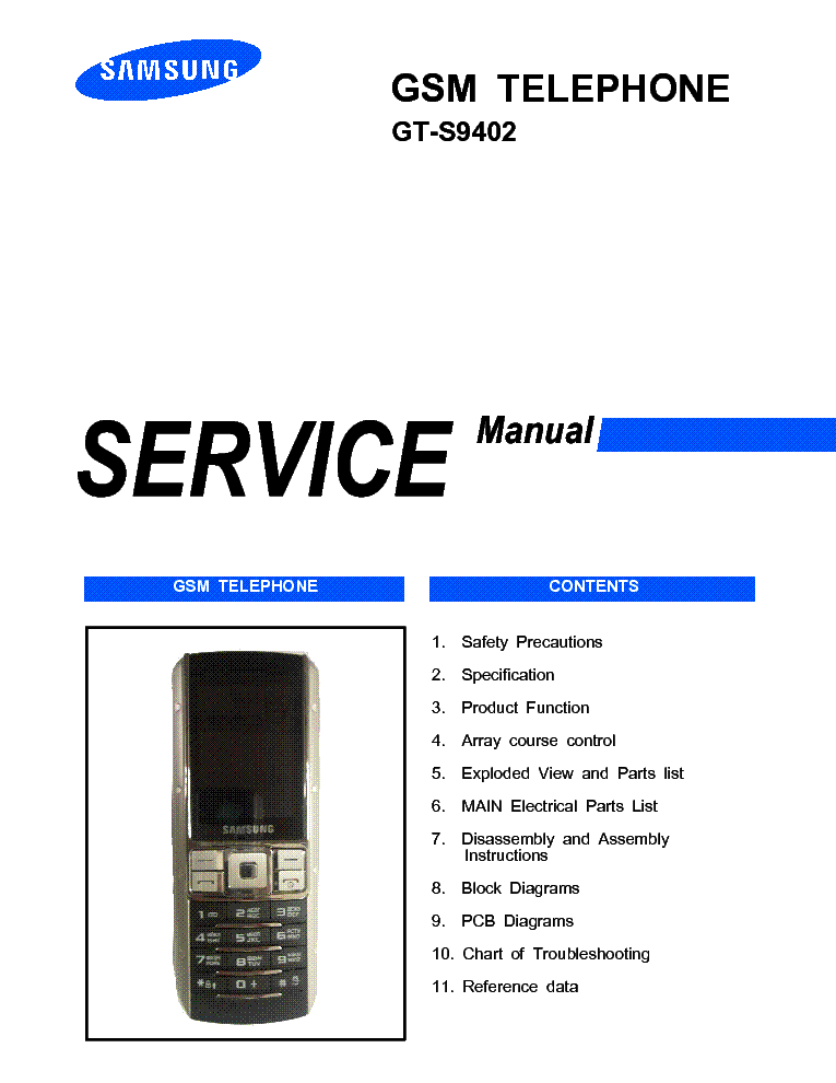 SAMSUNG GT-S9402 EGO SERVICE